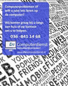 Behalve persoonlijke begeleiding kunt u ook bij ons terecht voor het oplossen van problemen! Tevens helpen wij u met computerinstallatie en reparaties!