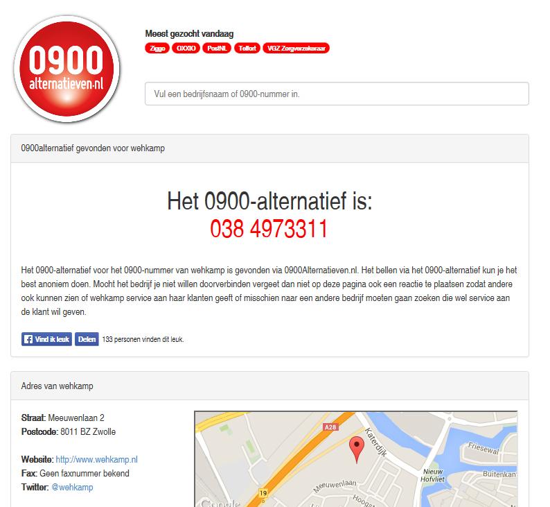 0900 Alternatieven