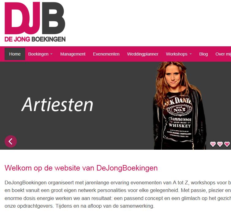 De Jong Boekingen